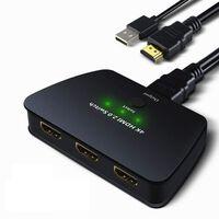 Comutador HDMI 3-1 com HDR, 3D e 4K (2160p)