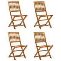 vidaXL Cadeiras de jardim dobráveis 4 pcs madeira acácia maciça