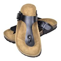 vidaXL Sandálias de cortiça Bio senhora design chinelo tam. 39 preto