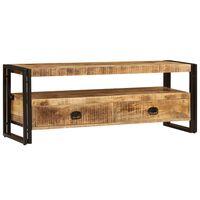 vidaXL Móvel de TV em madeira de mangueira maciça 120x35x45 cm