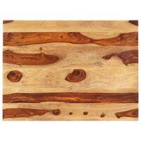 vidaXL Tampo de mesa madeira de sheesham maciça 25-27 mm 70x90 cm