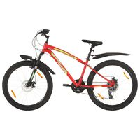 vidaXL Mountain Bike 21 Speed 26 inch Wheel 36 cm Red (92350+92356)