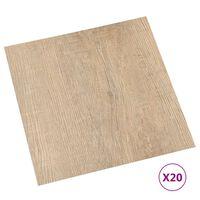 vidaXL Tábuas de soalho autoadesivas 20 pcs 1,86 m² PVC castanho