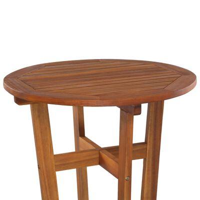 vidaXL Mesa de bar 60x105 cm madeira de acácia maciça