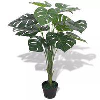 vidaXL Planta costela-de-adão artificial com vaso 70 cm verde