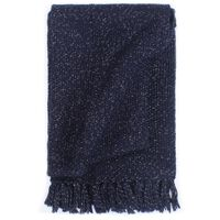 vidaXL Manta em tecido lurex 125x150 cm azul-marinho