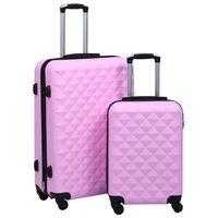 vidaXL Conjunto de malas de viagem estojo rígido 2 pcs ABS rosa