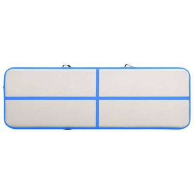 vidaXL Colchão de ginástica insuflável c/ bomba 400x100x15 cm PVC azul