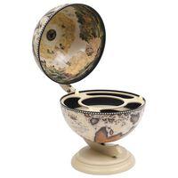 vidaXL Garrafeira de mesa em forma de globo madeira de eucalipto branco