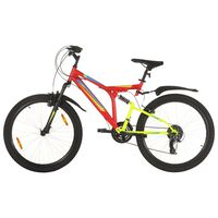 vidaXL Mountain Bike 21 Speed 26 inch Wheel 49 cm Red (92357+93247)
