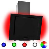vidaXL Exaustor RGB LED 60 cm aço inoxidável e vidro temperado
