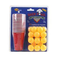 Conjunto Beer pong, 24 xícaras e bolas