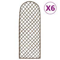 vidaXL Treliças de jardim 6 pcs 30x120 cm salgueiro