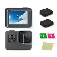 Tampa da lente e protetor de tela GoPro Hero5 Hero6 Hero7 Preto