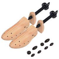vidaXL Alargador de calçado tamanho 41-46 madeira de pinho maciça