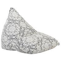 vidaXL Sofá/pufe retalhos de tecido cinzento-claro