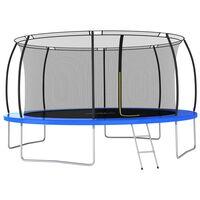 vidaXL Conjunto de trampolim redondo 460x80 cm 150 kg