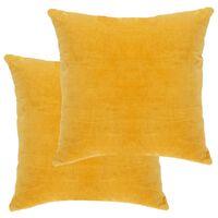 vidaXL Almofadões veludo de algodão 2 pcs 45x45 cm amarelo