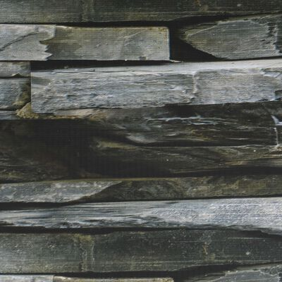 vidaXL Rolo de ocultação para cerca em PVC 70x0,19 m efeito pedra