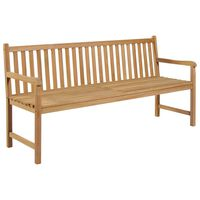 vidaXL Banco de jardim 175 cm madeira de teca maciça