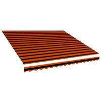 vidaXL Lona para toldo laranja e castanho 450x300 cm