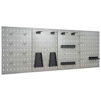 vidaXL Placas perfuradas de parede 4 pcs 40x58 cm aço