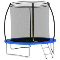 vidaXL Conjunto de trampolim redondo 244x55 cm 100 kg