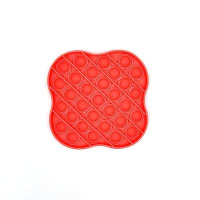 Pop It Fidget Toy Para Relaxamento Vermelho