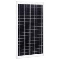 vidaXL Painel solar 30 W alumínio policristalino e vidro de segurança