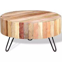vidaXL Mesa de centro em madeira maciça reciclada