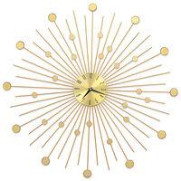 vidaXL Relógio de parede metal 70 cm dourado