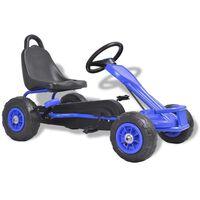 vidaXL Kart a pedais com pneus pneumáticos azul