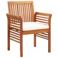 vidaXL Cadeiras de jantar jardim c/ almofadões 2 pcs madeira acácia