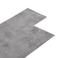 vidaXL Tábuas de soalho PVC autoadesivo 5,02 m² 2 mm castanho cimento