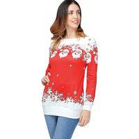 Suéter de Natal com ombro largo - tamanho L