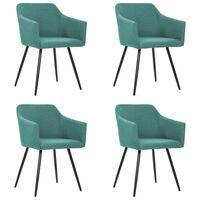 vidaXL Cadeiras de jantar 4 pcs tecido verde