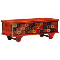 vidaXL Caixa de arrumação 110x40x40 cm madeira acácia maciça vermelho