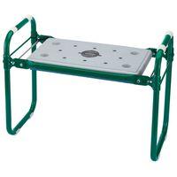 Draper Tools Assento/apoio joelhos jardim dobrável ferro verde 64970