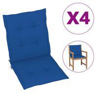 vidaXL Almofadões para cadeiras de jardim 4 pcs 100x50x4 cm azul real
