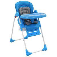 vidaXL Cadeira de refeição para bebé azul e cinzento