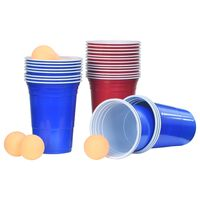 vidaXL Conjunto mesa de beer pong 0,5 L plástico