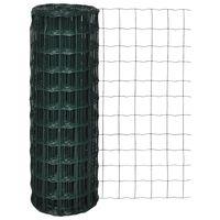 vidaXL Cerca 10 x 1,2 m aço verde