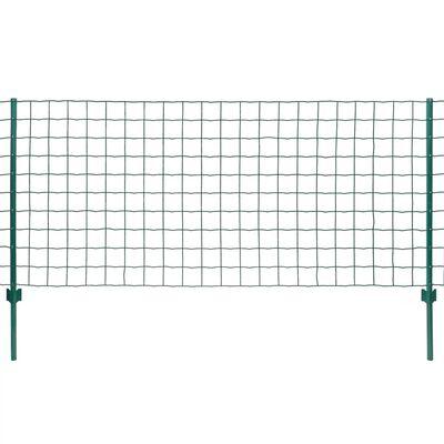 vidaXL Cerca 20x0,8 m aço verde