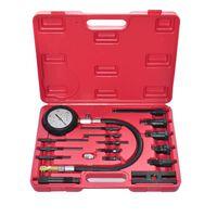vidaXL Kit de teste de compressão para motor diesel 17 peças