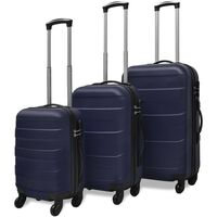 vidaXL Conjunto de três trolleys rígidos, azul