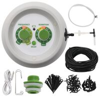 vidaXL Kit de rega por gotejamento interno automático com controlador