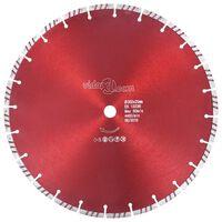vidaXL Disco de corte de diamante com aço turbo 350 mm
