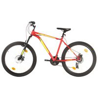 vidaXL Mountain Bike 21 Speed 27,5 inch Wheel 50 cm Red (92345+92349)