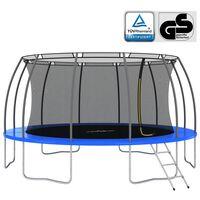 vidaXL Conjunto de trampolim redondo 488x90 cm 150 kg