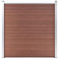 vidaXL Painel de vedação para jardim 180x186 cm WPC castanho